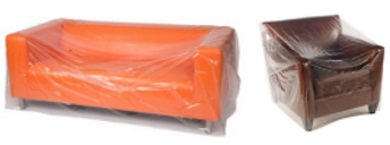 S1 clear furniture bags plastic covers for all types of for Plastic furniture covers indoor