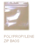 3 X 5 .002 POLYPROPYLENE CLEAR ZIP 1000/CS