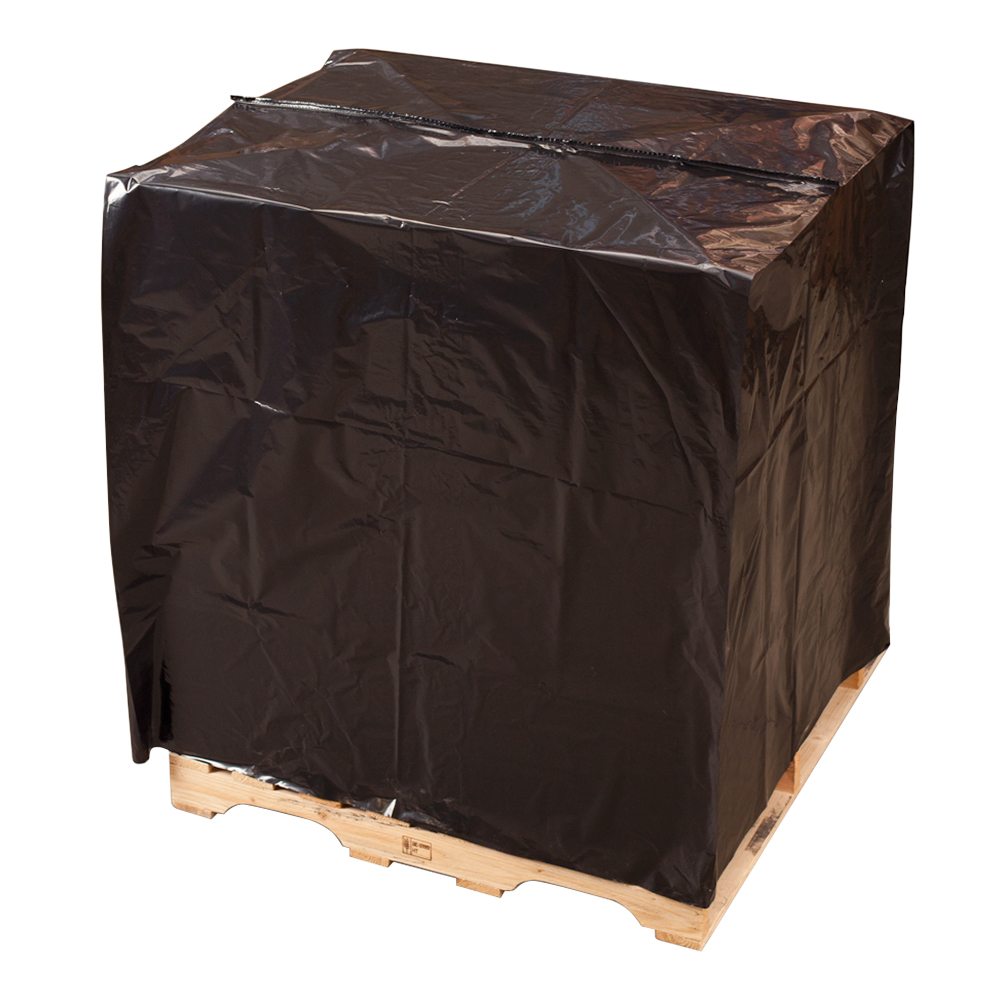 Black Pallet Cover, 51x49x97 UVI Protection, .002 Mil, 45/roll