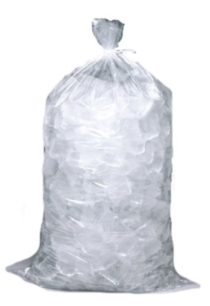 6x3x18 - 0.002 - 1000/case - 5 lb Clear Ice Bags