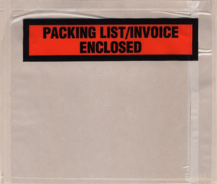 4.5x6 Panel Face Packing List/INVOICE - Back Load - 1000/cs